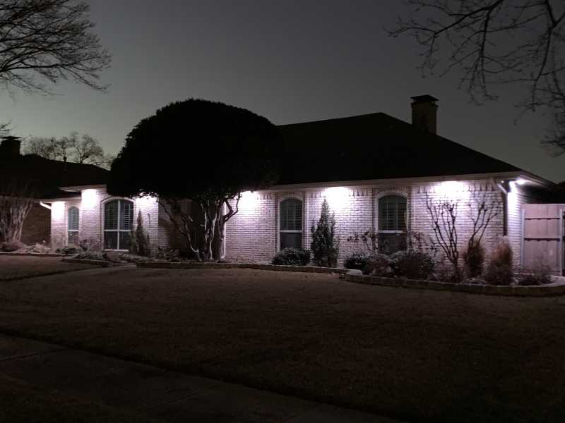 a house with trimlight downlighting installed