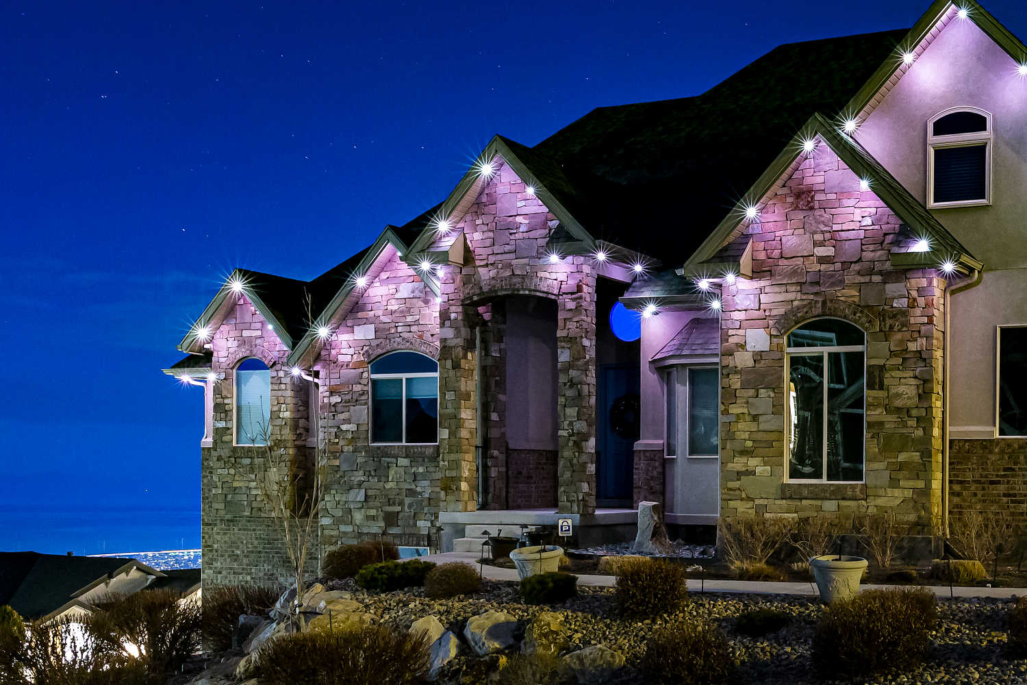 trimlight iluminating a home