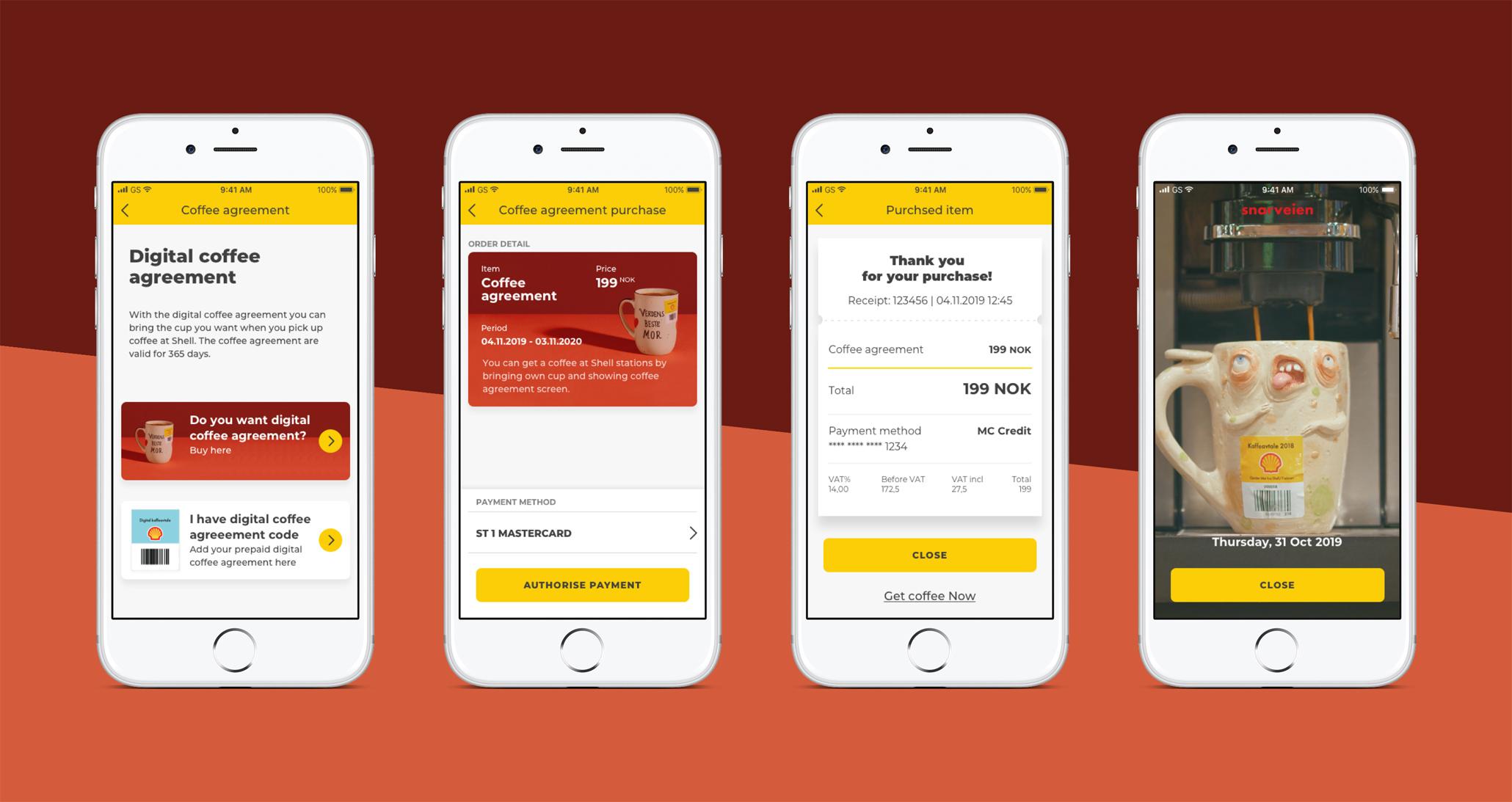 Käyttäjä voi ostaa kahvit vuodeksi suoraan sovelluksessa tehden St1 kahvisopimuksesta joustavimman Norjassa