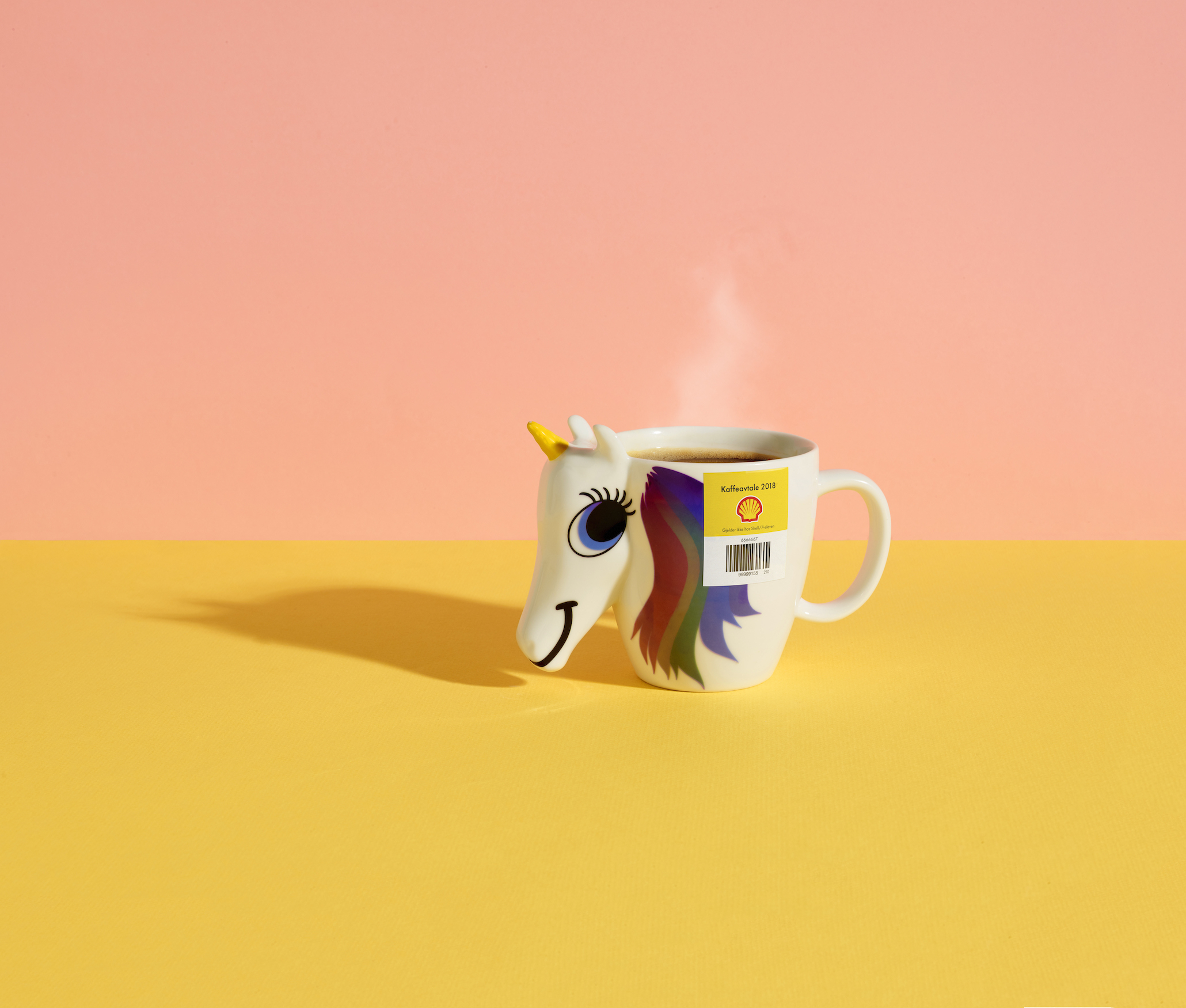 "Funny and striking images of coffee cups together with the slogan ""Bring and use the cup you want!"" are featured in the app's marketing material"