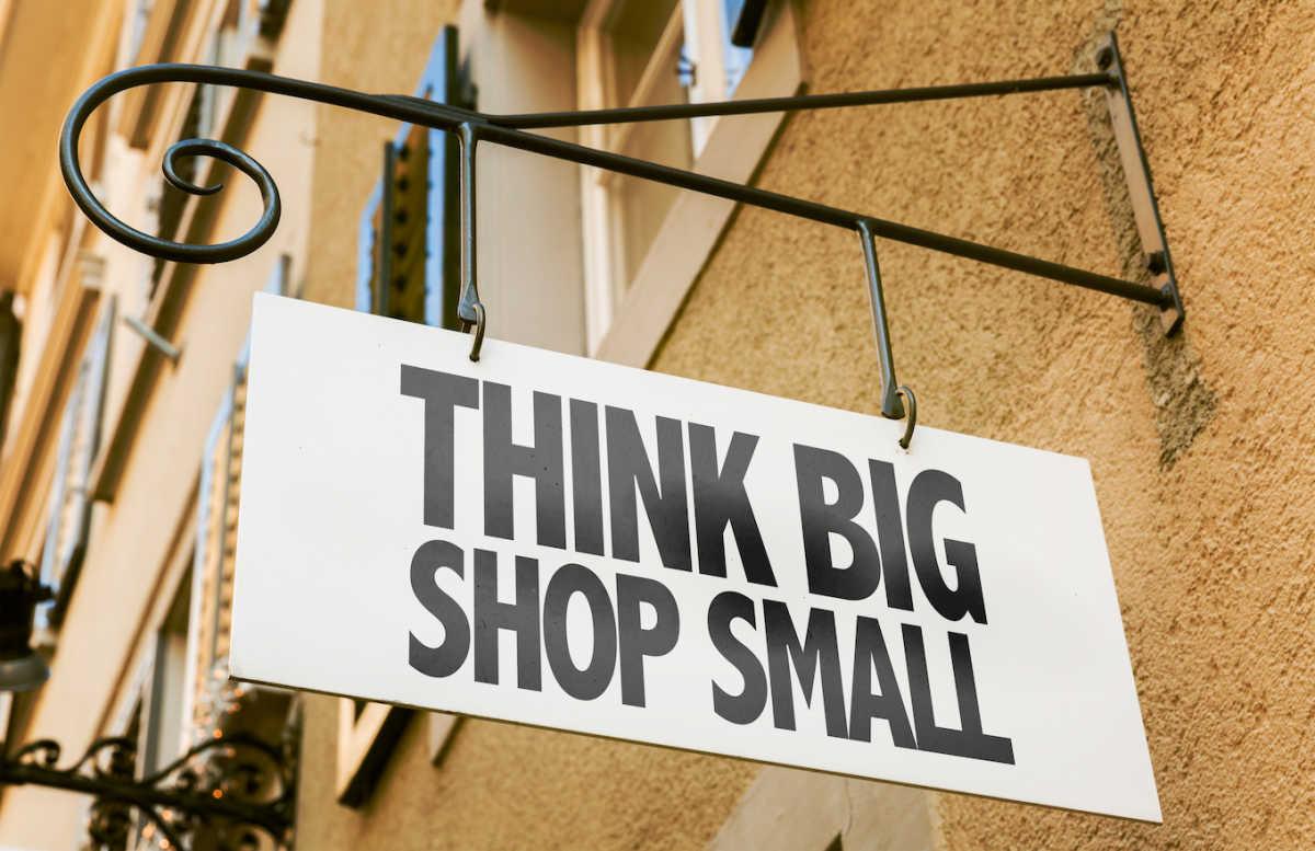 магазин небольшой знак