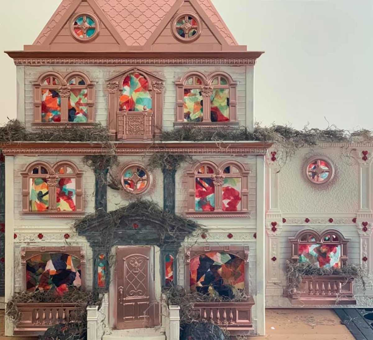pink dollhouse transformed