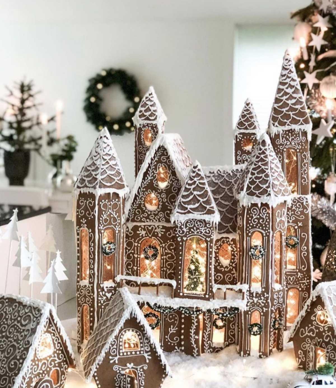Уютная зимняя деревня