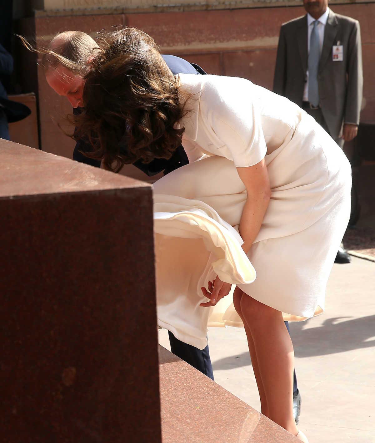 Kate Middleton windy dress