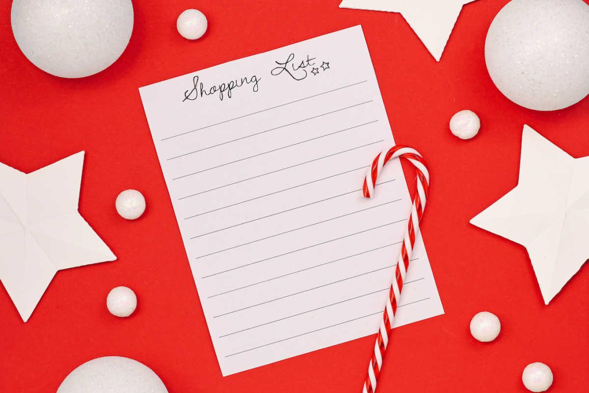 Рождественский список покупок