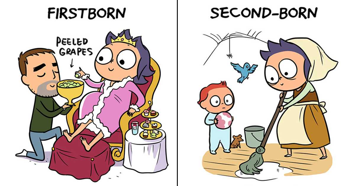 Cartoons Nail the Difference Between the 1st Kid vs. the 2nd ...