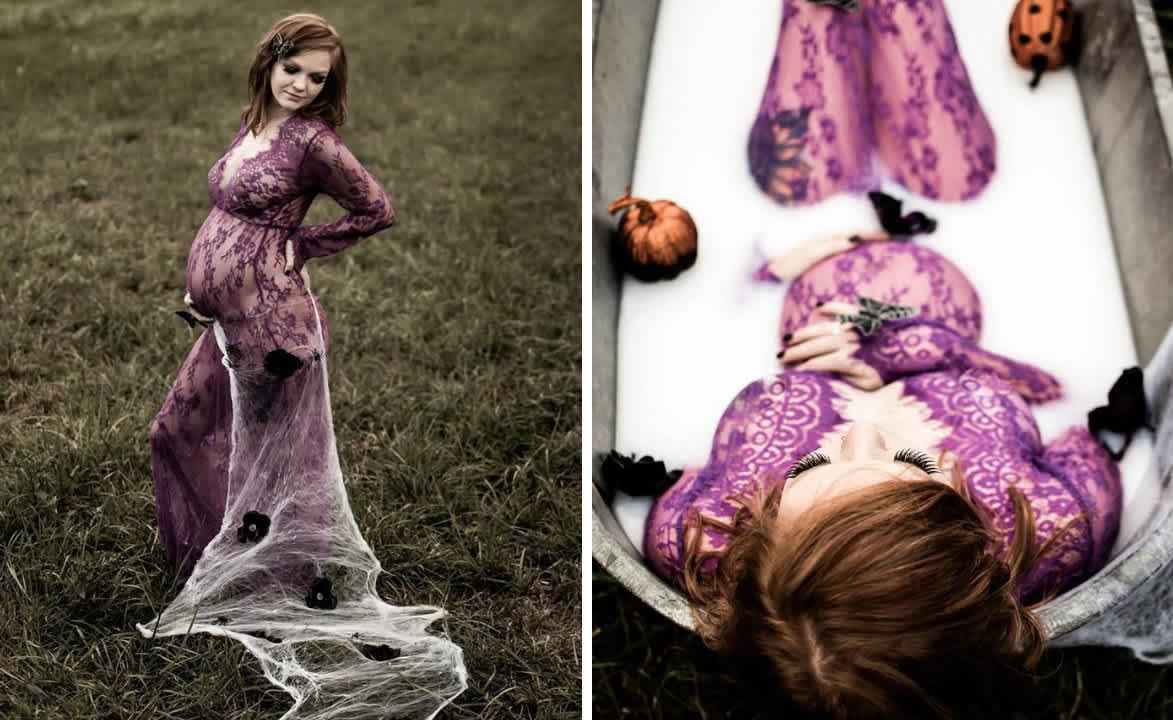 Halloween Maternity Shoot Makes Pregnancy Look Scary Good Cafemom Com