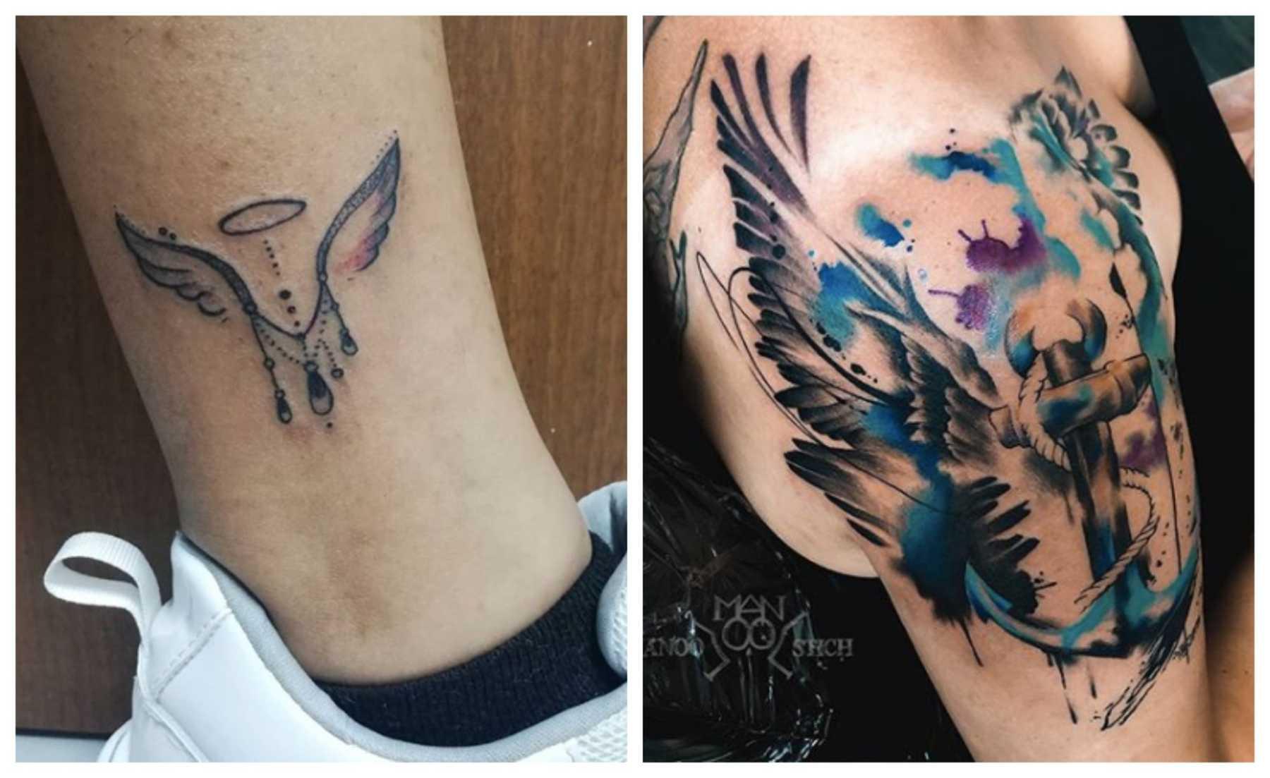 20 Lovely Light & Disturbingly Dark Angel Tattoos | CafeMom.com