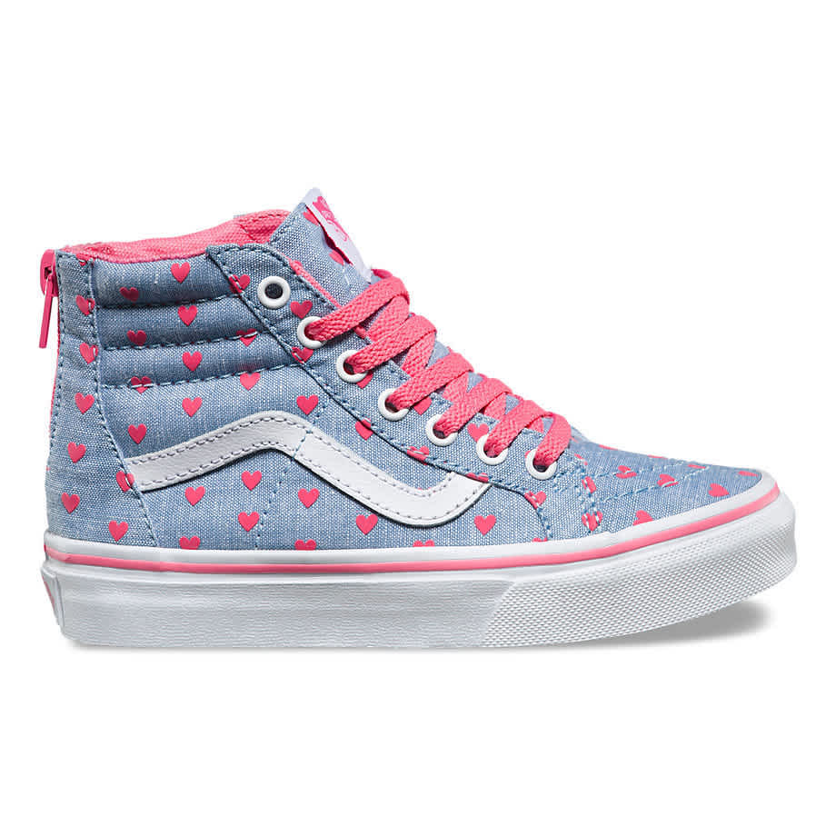 Heart patterned high-tops