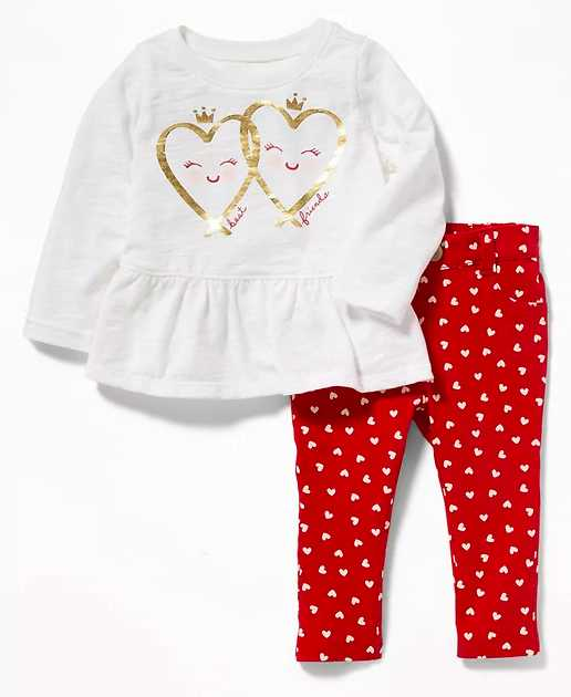 Gold hearts outfit