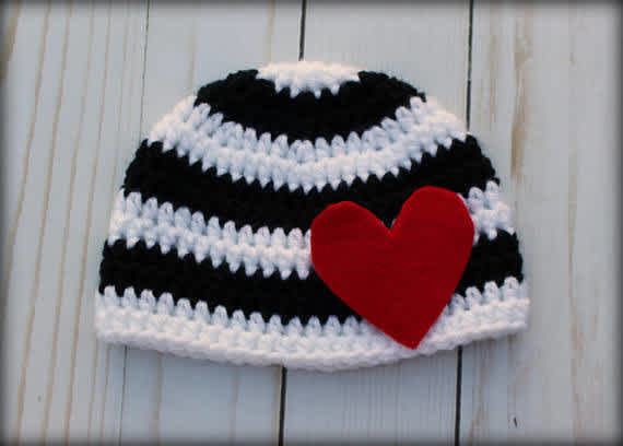 Hipster heart hat