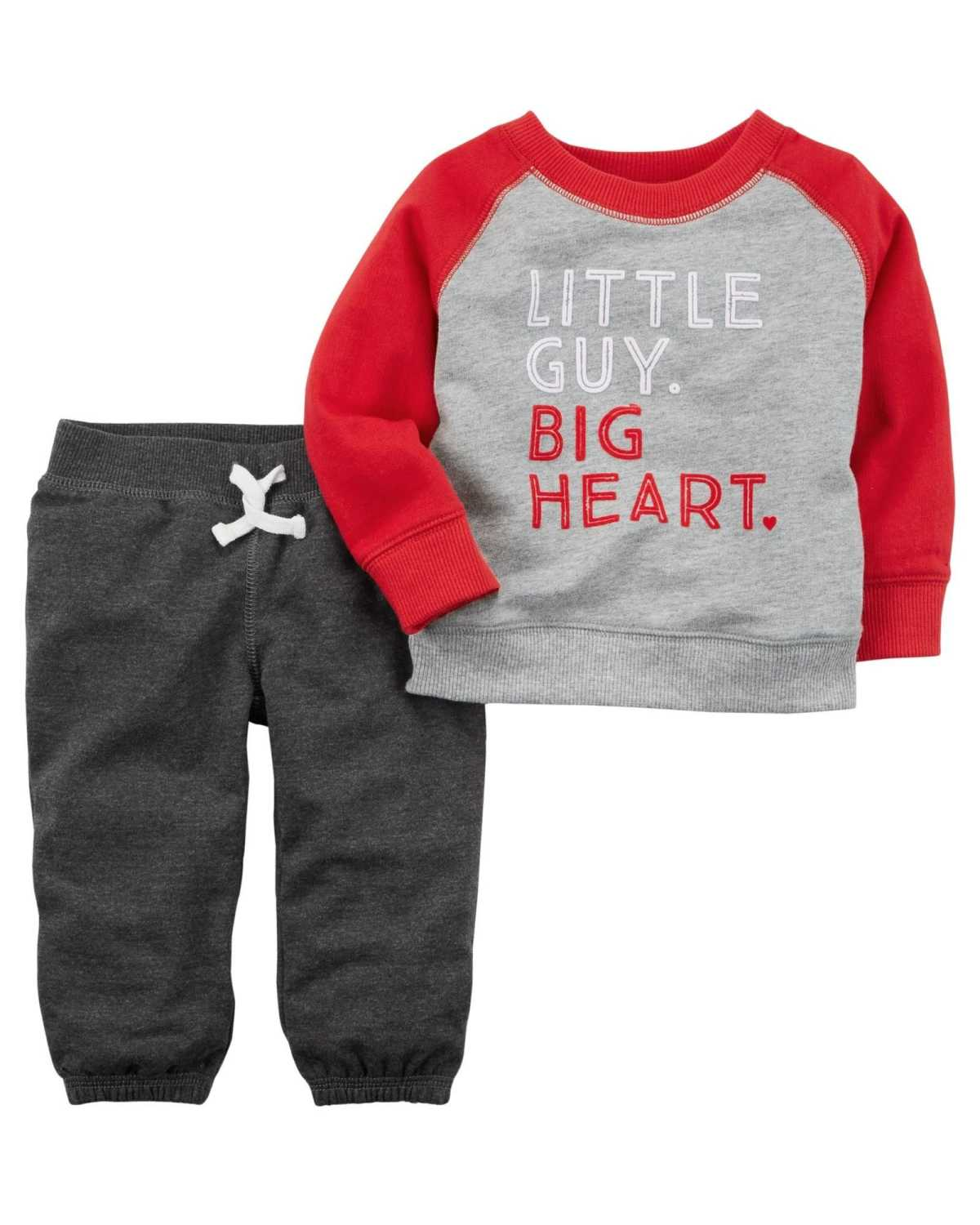 Little guy, big heart outfit