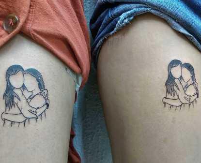 Abrazos BFFs Tatuajes