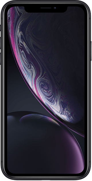 front-apple-iphone-xr-svart