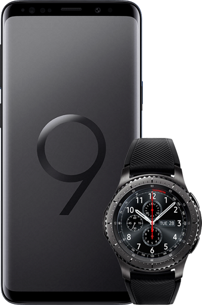 SamsungS9 GearS3 black