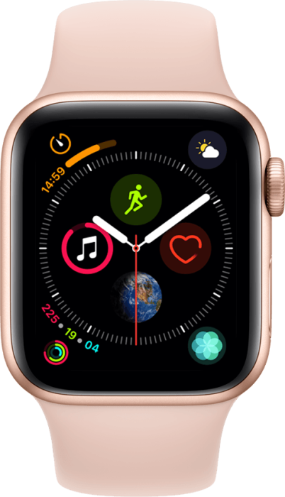 Apple Watch Series 4 4G 40mm Gull Aluminium med rosa bånd