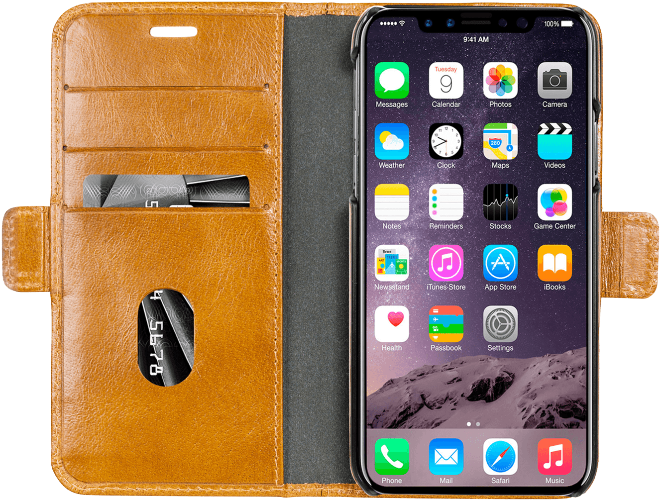 Dbramante1928 Wallet CPH iPhone X Lys brun