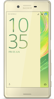 Sony Xperia X Lime gull