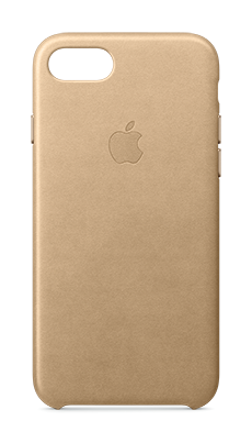 Apple iPhone 7 Leather Case Lys brun