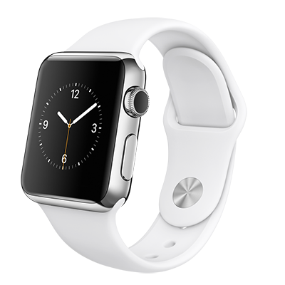 Apple Watch 38mm Steel/White band