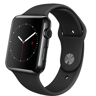 Apple Watch 42mm Black/Black Band