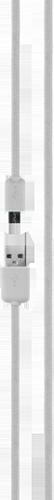 Xqisit Cotton Cable MicroUSB 1,8M White