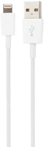 xqisit charge and sync cable kabel iphone lightning hvit white