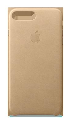 Apple iPhone 7 Plus Leather Case Lysebrun