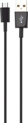 Xqisit Charge&Sync MicroUSB 100cm Svart