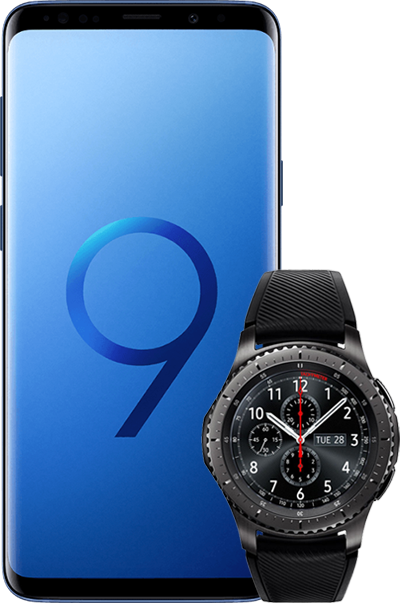 SamsungS9Plus GearS3 blue