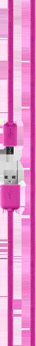 Xqisit Cotton Cable MicroUSB 1,8M Pink