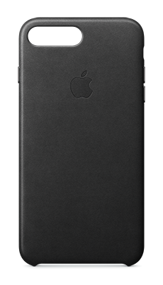 Apple iPhone 7 Plus Leather Case Svart