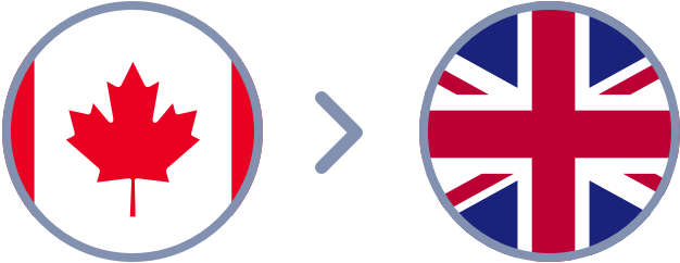 How to transfer Canadian Dollars to the United Kingdom quickly & easily