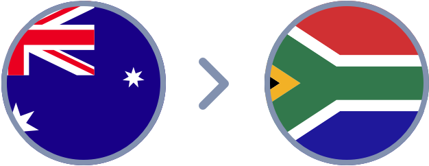 How to transfer Australian Dollars to South Africa quickly & easily