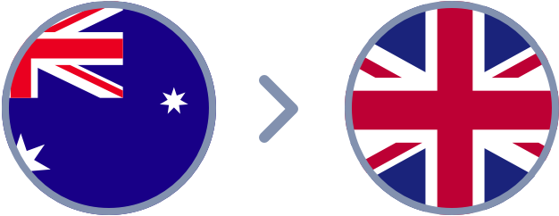 How to transfer Aussie dollars to the UK