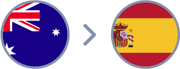 How to transfer Aussie dollars to Spain