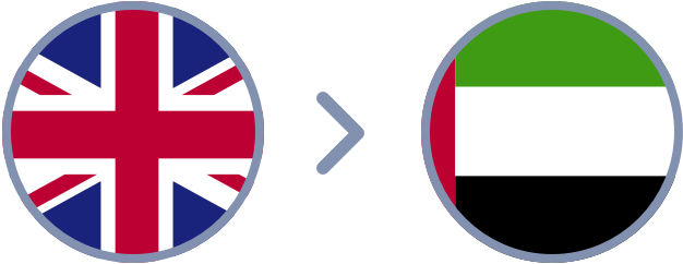 How to transfer British Pounds to the United Arab Emirates quickly & easily