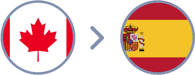 How to transfer Canadian Dollars to Spain quickly & easily