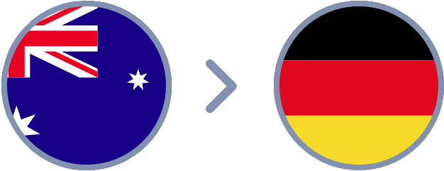 How to transfer Aussie dollars to Germany