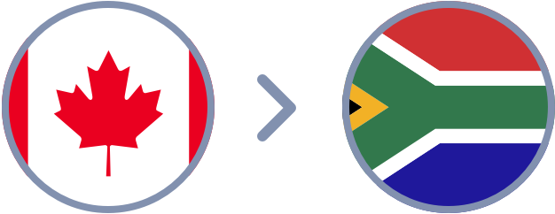 How to transfer Canadian Dollars to South Africa quickly & easily