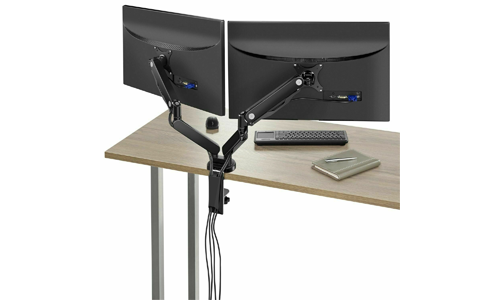 Insignia NS-PGSMM6220-C Dual Arm Full Motion Monitor Mount - Black