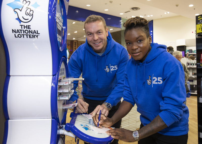 Sir Chris Hoy and Nicola Adams celebrate 25 years of National Lottery funding for sport