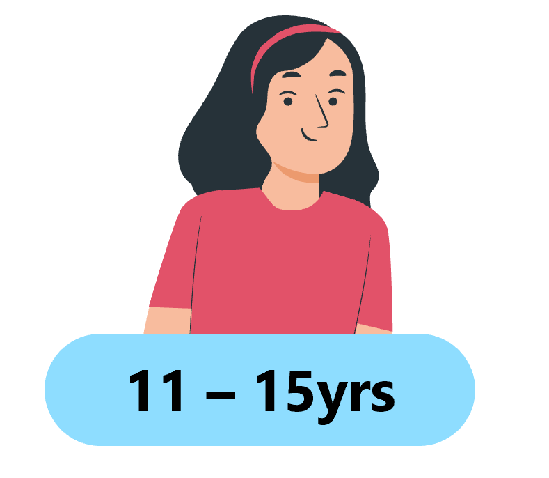the image shows a cartoon style female with black hair wearing a red hair band and t-shirt
