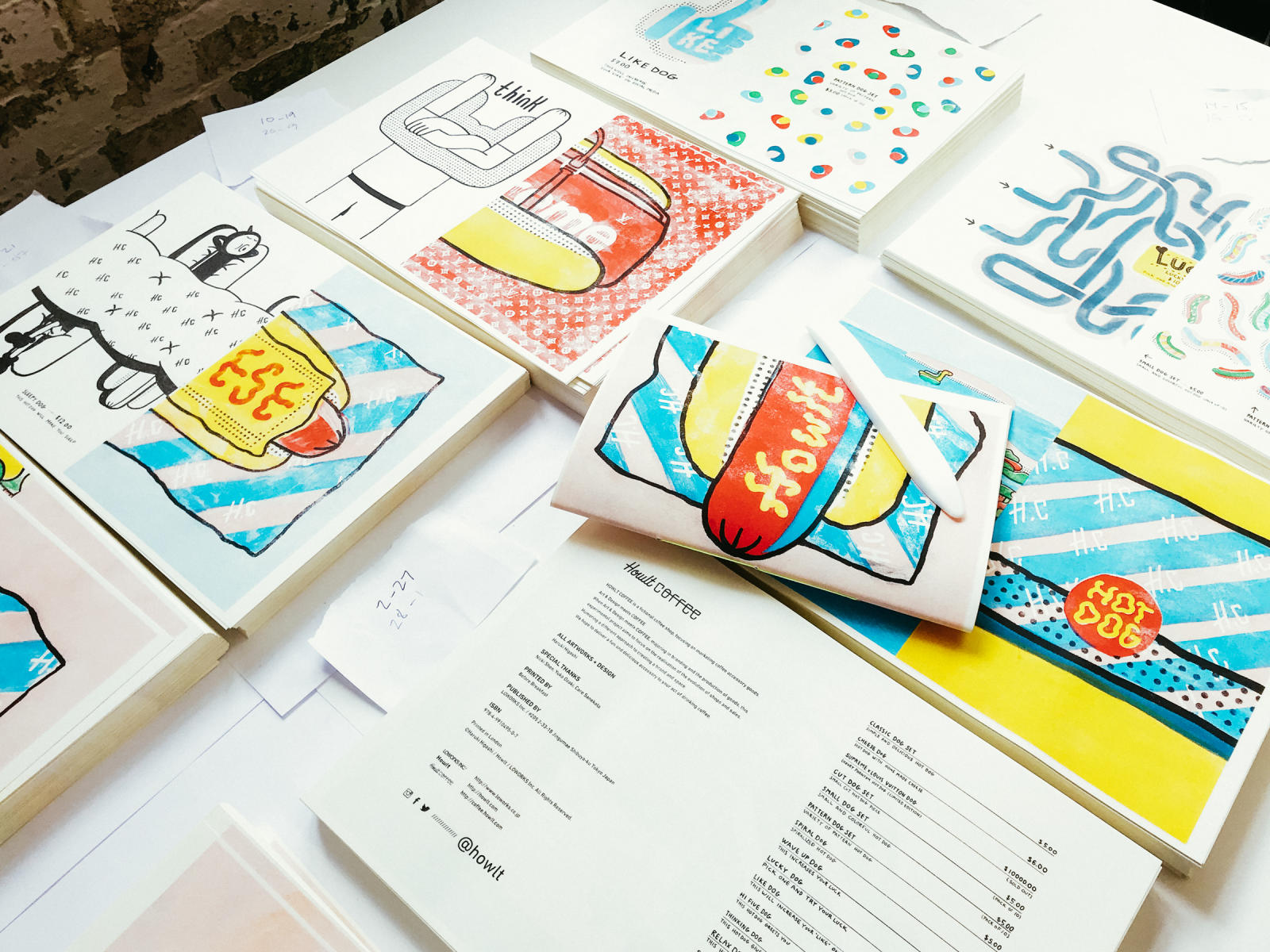 All pages are printed and bound by Risograph.