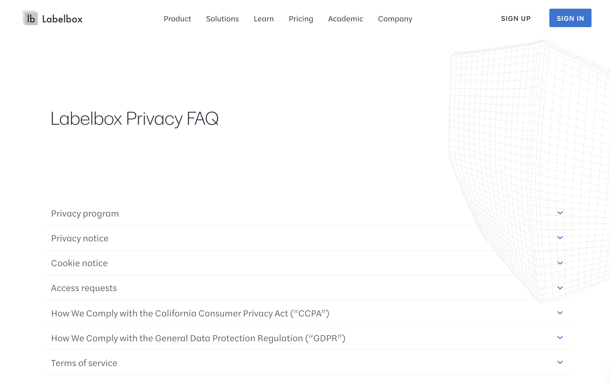 Labelbox: Privacy & Security FAQ