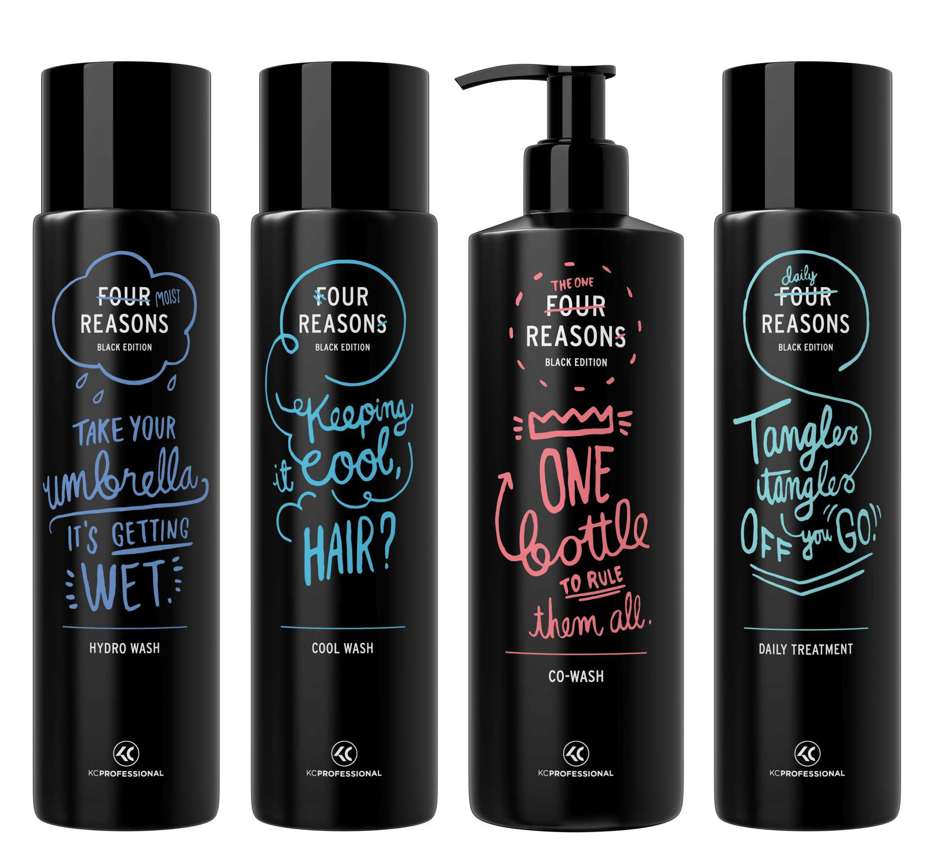 Four Reasons Black Edition shampoo