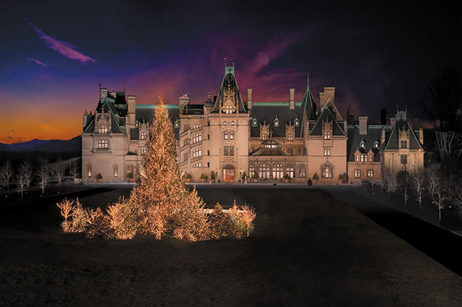 Biltmore during Christmas.