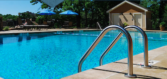 The pool at The Residences at Biltmore offers a respite from the summer heat.