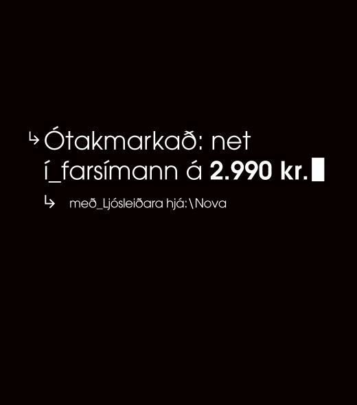 Ótakmarkað net í farsímann!