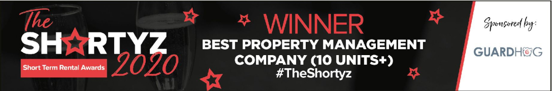 MadeComfy - Winner Best Property Management company (10 units+) The Shortyz 2020 Short Term Rental Awards